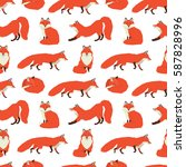 wild animals collection red
