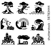 set vector silhouette icons of...   Shutterstock .eps vector #58783444