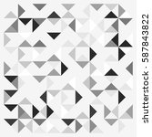geometric lines and dots. line...   Shutterstock .eps vector #587843822