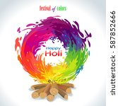 fire of holi colors. vector... | Shutterstock .eps vector #587852666