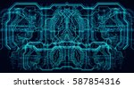 circuit board futuristic server ... | Shutterstock . vector #587854316