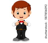 vector illustration of young... | Shutterstock .eps vector #587856092