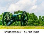 Cannons on a Battlefield in Fredericksburg, VA