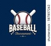 modern professional baseball... | Shutterstock .eps vector #587857262