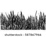 horizontal seamless vector... | Shutterstock .eps vector #587867966