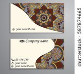 visiting card and business card ... | Shutterstock .eps vector #587874665