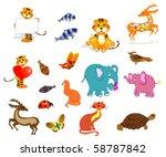 animals | Shutterstock .eps vector #58787842