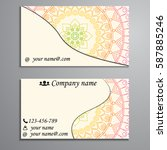 visiting card and business card ... | Shutterstock .eps vector #587885246