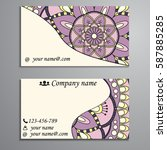 visiting card and business card ... | Shutterstock .eps vector #587885285