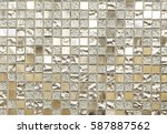 mosaic tile background. mosaic... | Shutterstock . vector #587887562
