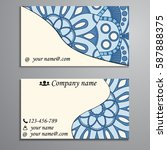 visiting card and business card ... | Shutterstock .eps vector #587888375