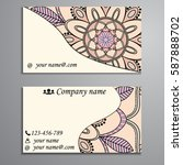 visiting card and business card ... | Shutterstock .eps vector #587888702