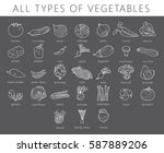 vegetables isolated set.... | Shutterstock .eps vector #587889206
