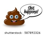 Funny And Cute Poop Character...