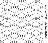 seamless geometric vector... | Shutterstock .eps vector #587893775