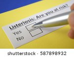 listeriosis  are you at risk ... | Shutterstock . vector #587898932