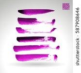 brush stroke and texture.... | Shutterstock .eps vector #587908646