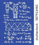 physics  electronic engineering ...   Shutterstock .eps vector #587913482
