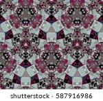 kaleidoscope seamless pattern....   Shutterstock .eps vector #587916986