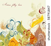 autumn leaves background | Shutterstock .eps vector #58791847