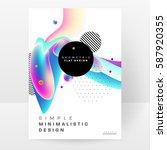memphis geometric background... | Shutterstock .eps vector #587920355
