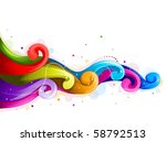 abstract rainbow waves   vector