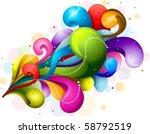 abstract rainbow colored swirls ...