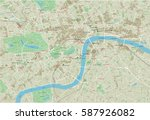 vector city map of london with... | Shutterstock .eps vector #587926082