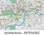 colorful london vector city map | Shutterstock .eps vector #587926502