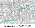 black and white vector city map ... | Shutterstock .eps vector #587926532