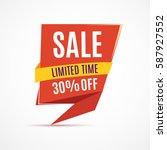 sale banner design. big set of... | Shutterstock .eps vector #587927552