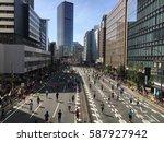 tokyo marathon 2017  photo...   Shutterstock . vector #587927942