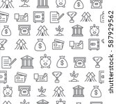 different line style icons...   Shutterstock .eps vector #587929562