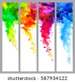 set of four holi banners ... | Shutterstock .eps vector #587934122