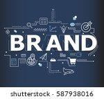 creative illustration of brand... | Shutterstock .eps vector #587938016
