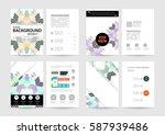 memphis geometric background... | Shutterstock .eps vector #587939486