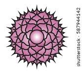 seven major chakras. sahasrara...   Shutterstock .eps vector #587944142