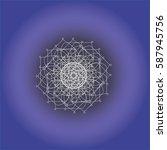 geometry circle fractal   Shutterstock .eps vector #587945756