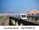 shanghai maglev train | Shutterstock . vector #587948915