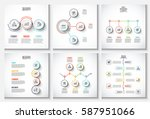 thin line flat elements with... | Shutterstock .eps vector #587951066