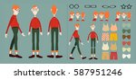 character animation  character...   Shutterstock .eps vector #587951246