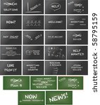 huge collection of keynote... | Shutterstock .eps vector #58795159