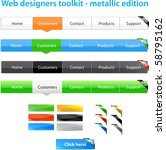 web designers toolkit  ... | Shutterstock .eps vector #58795162