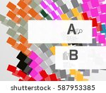 colorful stripes geometrical... | Shutterstock .eps vector #587953385