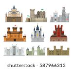 castles and fortresses vector... | Shutterstock .eps vector #587966312