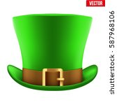 st. patrick green hat isolated... | Shutterstock .eps vector #587968106