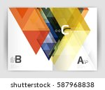 modern business brochure or... | Shutterstock .eps vector #587968838