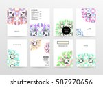 memphis geometric background... | Shutterstock .eps vector #587970656