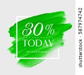 sale today 30  off sign over... | Shutterstock .eps vector #587974742
