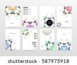 memphis geometric background... | Shutterstock .eps vector #587975918